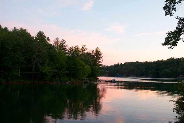 Sunset on Lake Nottely